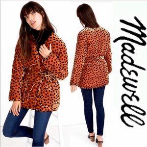💥Sale 24hr NWT Madewell Soft Wrap Jacket Leopard